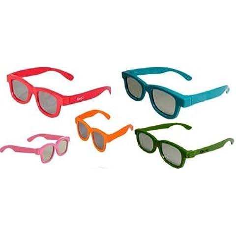 Ultra by EasyPeasy - Set de 5 pares de gafas 3D polarizadas para niños para uso en cine y con televisor
