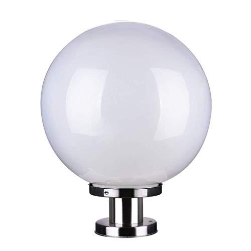 andpfosten Lampe Licht Mondlicht Kunststoff kugelförmige Kuppel Lampe Yakakou Ball Milch weiß Nicht gebrochene Kugel (Size : 25cm) ()