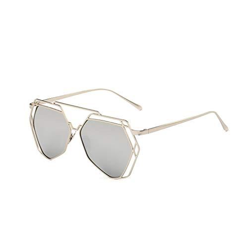 Idyandyans Frauen Geometrische Polygon Metall Sonnenbrillen Hohl Trim Unregelmäßige UV400 Eyewear Dame Summer Sun Glasses