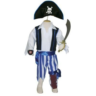 Peg Kostüme Leg (Boys Peg Leg Pirate Costume, Age 3 to 5 Years by)