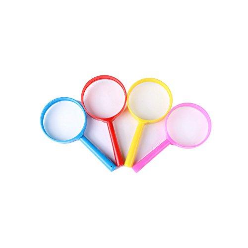 Zhi Jin Kunststoff 3x Handlupe Lupe Lesen Lupe für Kinder Schule Inspektion Wissenschaft Büro 4Stück