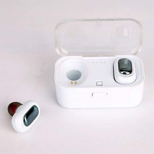 DANGSHUO Bluetooth 4.2 Auriculares inalámbricos con Caja Carga inalámbrica IPX5 Auriculares estéreo de Alta fidelidad con cancelación de Ruido a Prueba de Agua con micrófono Integrado para Deportes D