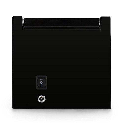 Klarstein 8PT1S Uhrenbeweger Uhrenbox (für 1 Uhr, linkslauf/rechtlauf, Sichtfenster, Kunstleder Inlay, flüsterleiser Motor) schwarz-Pianolack - 3