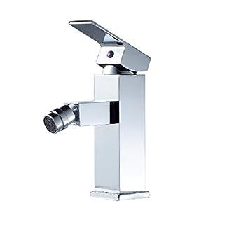 Auralum – Grifo WC Bidet Mezclador Bidé Monomando con Aireador Latón Cromado