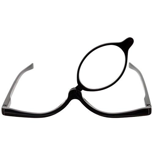 Schminkbrille mit Sehstärke in verschiedenen Farben - Schminkhilfe zum Schminken (1,5 dpt, Schwarz)