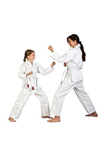 Karateanzug weiß für Kinder und Erwachsene Anfänger incl. Gürtel