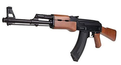 KOSxBO® Airsoft Set Gewehr CCCP 47 Wood AEG 6 mm. Maßstab 1:1-0,5 Joule Softair ab 14 Jahren mit Zielscheiben - AK Russian Edition - -