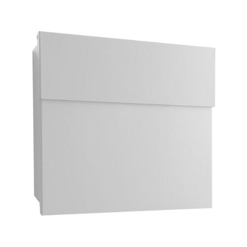 Radius Design Edelstahl-Briefkasten Letterman 4 mit verdecktem Schloss, moderner Wandbriefkasten aus Edelstahl, Postkasten Letterman IV edelstahl: minimalistisch, funktional und ästhetisch