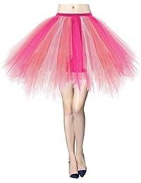 Gardenwed Tutu Tüllrock Damen 50er Rockabilly Petticoat Tutu Unterrock Vintage Ballet Blase Tanzkleid Ballkleid Abendkleid Gelegenheit Zubehör