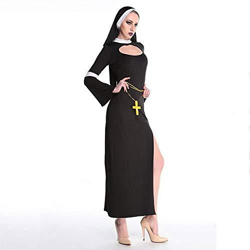 Yunfeng Hexenkostüm Damen Halloweenkostüm-cos Jesus Christus Priester in Nonne - Jesus Christus Kostüm