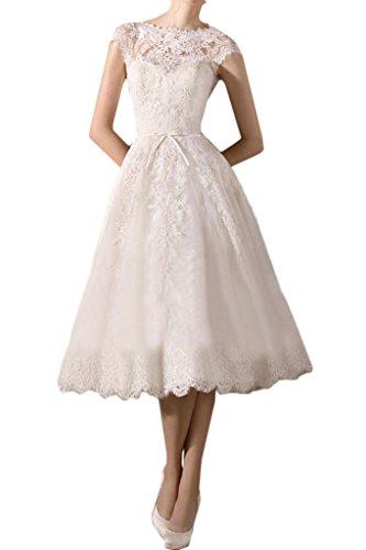 ivyd ressing Femme Tendance Pointe Mollet robe longue rueckenfrei Party Prom fête robe robe mariage Robe Robe du soir Ecru