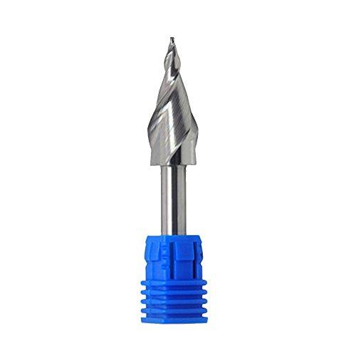 KEHUASHINA Konische Kugelkopf Spirale Kegelfräsen Mini Brief Brief Computer Werbung Gravur Werkzeug Kunststoffverarbeitung Schaftdurchmesser 6mm