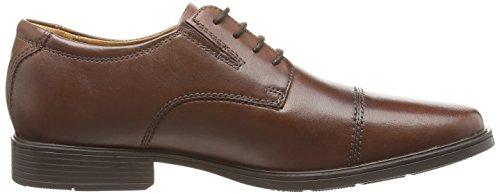Clarks Tilden Cap, Derbies à lacets homme Marron (Brown Leather)
