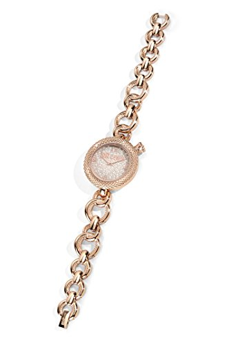 Just Cavalli Lily Women's Quartz Watch with White Dial Analogue Display and Pink Stainless Steel Strap R7253137504
