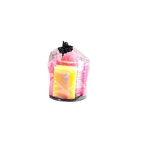 AKTION Putzset Putzzeug mit Straßsteinchen Verzierung mit Tasche 7 tlg, Farbe:rosa