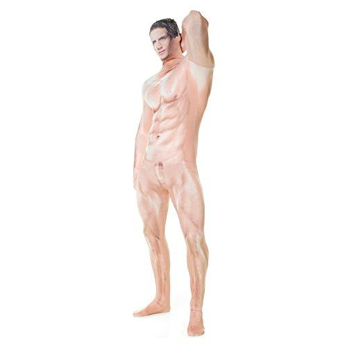 Morphsuits MLFRCS2 - Realistische Zensiert Nackt Mann Morphsuit Erwachsene Kostüme XXL 6 Zoll 1 - 6 Zoll 9, 186 cm - 210 cm, XXL, (Anzug Mann Nackt)