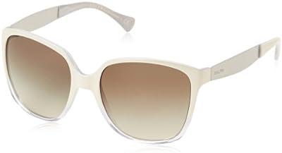 Ralph Lauren 0ra5173 - Gafa de sol cuadrada color blanco con lentes color gris espejo, 56 mm