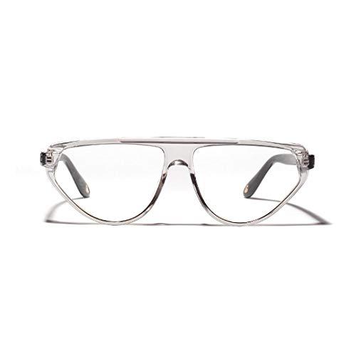 WULE-RYP Polarisierte Sonnenbrille mit UV-Schutz Mode Cat Eye Large Frame Optische Gläser, Unisex. Superleichtes Rahmen-Fischen, das Golf fährt (Farbe : Clear Grey)