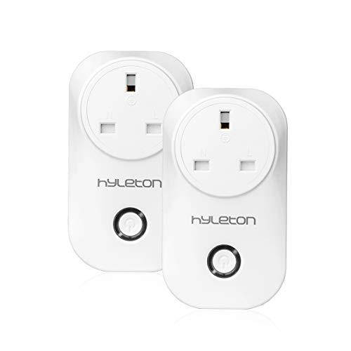 Smart Socket Smart Home Outlet WiFi Plug compatible con Alexa, Google Home Smart Remote Control su dispositivo de casa desde cualquier lugar, no requiere Hub – HLT UK Plug Pack de 2