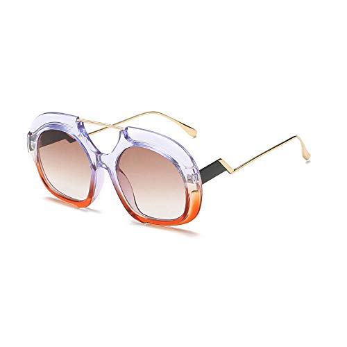 2f1647f3ed1a AOLVO Circolare Gioventù Occhiali da Sole polarizzati infrangibile Funky  Classico Grande Corno Bordato Occhiali da Sole