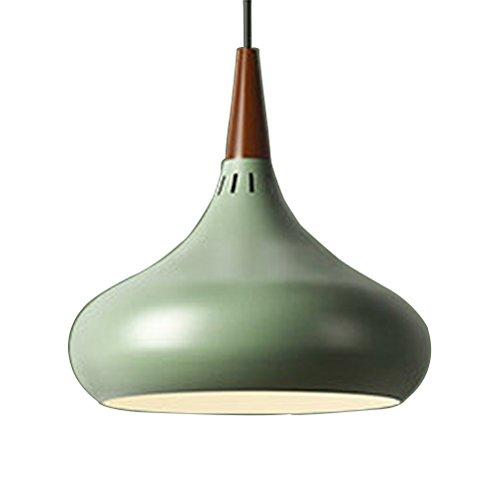 LEDMOMO Pendelleuchte, Retro Vintage Loft Anhänger Deckenleuchte Moderne Hängeleuchten E27 Basis für Coffee Bar Küche Home 200x280mm (grün schwarz)