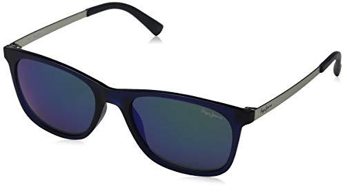 Pepe Jeans Unisex-Erwachsene Ajax Sonnenbrille, Blau (Blue/Grey), 53.0