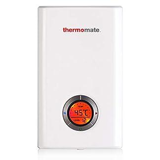 Thermomate ELEX12 12kW Calentador de Agua Instantáneo Eléctrico sin Tanque, con LED Pantalla Digital Blanco y termostato Smart Touch