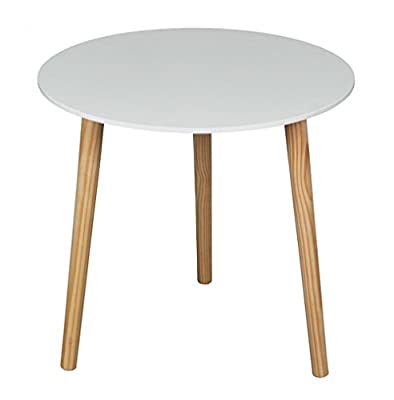 Aspect Wooden Side/End/Lamp/Coffee Table, 48 x 45 cm, White - inexpensive UK light shop.