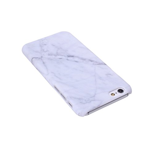 """Coque Cover iPhone 6 / 6S, IJIA Ultra-mince Motif Marbre Naturel Ivoire Blanc PC Plastique Dur Hard Bumper Case Cover Shell Coque Housse Etui pour Apple iPhone 6 / 6S 4.7"""" + 24K Or Autocollant color-HD1"""