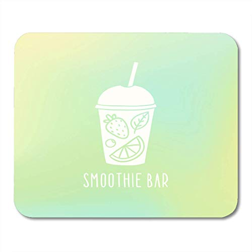Mauspads Hand Green Juice Smoothie Bar Cup to Go with Fruits Orange gezeichnete Getränke Mauspad für Notebooks, Desktop Computer Mauspad 25x30cm -