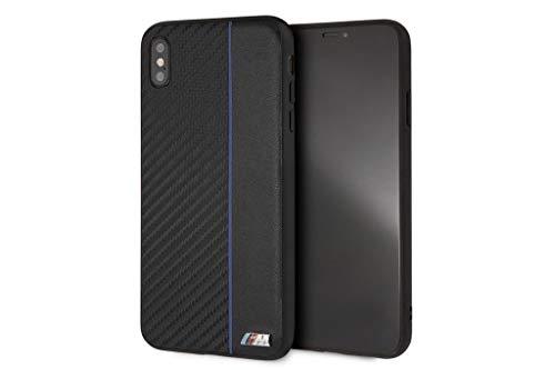 BMW Hard Case - iPhone XS Max - - Navy Stripe/PU Carbon Fiber Carbon Fiber Hard Case