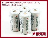 Tensai TR-C8000 Mono Low Self Discharge ReadyToUse NiMh-Akku (4-er Pack, 8000mAh)
