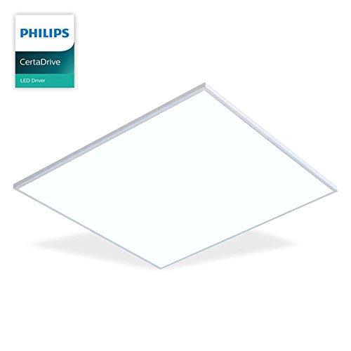 Licht Panel (LED Panel Einbau, MARIA, 50W, PHILIPS CertaDrive, Active Pure Tageslicht, 620x620mm, LED Bürolampe für Odenwalddecke, Rasterleuchten, Einlegeleuchte, Büroleuchten)