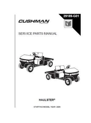 EZGO 29189G01 2004 Serviceteile-Handbuch für Gas-Kissenwagen/-Nutzfahrzeuge -
