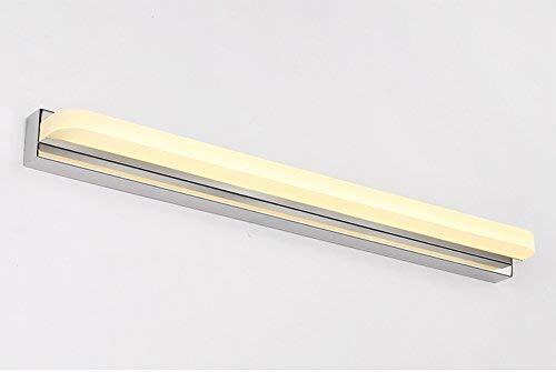 QSJZ Anti-Fog Led Mirror Lamp Bathroom Simple Modern Wall Lamp Mirror Headlight (Color : Warm Light, Size : 42cm) -