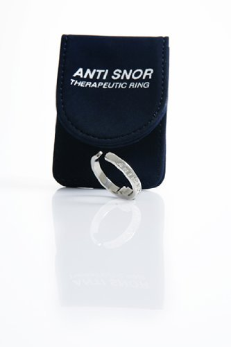 Anti Snor Therapeutic Acupressure Stop Snoring Snore Ring- Natural Sleep Aid for the Relief of Snoring, Sinus Issues, Restless Sleep, and Insomnia Sufferers (Medium)