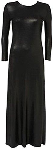 CHOCOLATE PICKLE Neue Frauen Plus Size Shinny Wetlook PVC Röcke Ober kleid 44-54 (52-54, Wetlook Long Maxi) (Plus Size Frauen Schößchen-kleid)