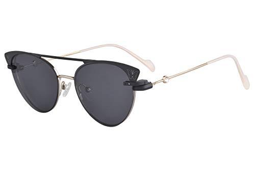 SHINU Cateye Clip-on Polarisierte Sonnenbrille Progressive Multifocus Anti-Blaulicht Computer Lesebrille-DC3049(C2.hoch +0.50.runter +3.25 anti-blau linse)