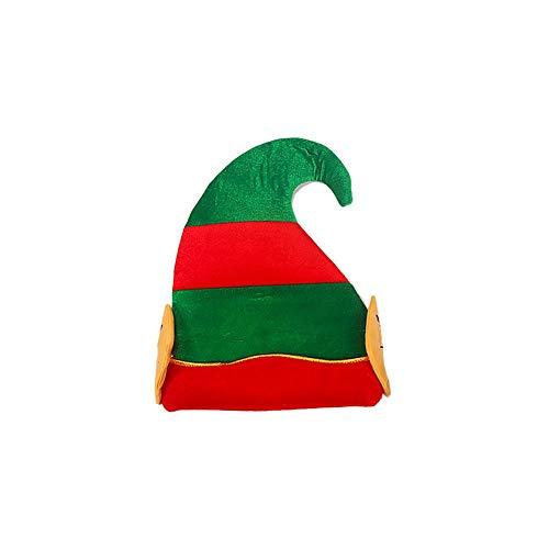 kaikki Christmas Elf Hat für Unisex Weihnachten Halloween-Kostüm Innovativer Cartoon-Hut für Kind Erwachsener 2020 Weihnachtsdekoration (Kinder Santa's Helfer Kostüm)