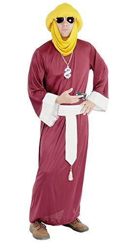 Foxxeo Premium Millionär Kostüm für Herren - Größe M bis XXXL - Herrenkostüm Scheich Araber für Fasching und Karneval Größe XXXL (Beduinen Kostüm)