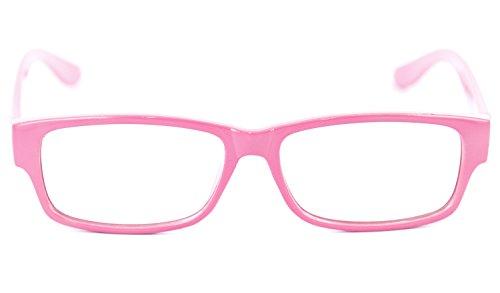 Nerd-Brille rosa ohneSehstärkeca. 13,5 x 3,5 cm Herren Damen Panto-Brille Lese-Brille Nerd-Brille Geek-Brille