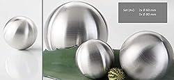Ziegler Edelstahlkugeln matt 4-TLG. Set, 2X Ø 60 mm & 2X Ø 80 mm - Gartenkugel - Rosenkugel -