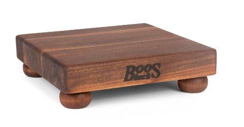 John Boos Schneidebrett mit Standfüßen, Ahornkante, 30,5 cm, quadratisch 9 Inches Square Walnussholz John Boos Board