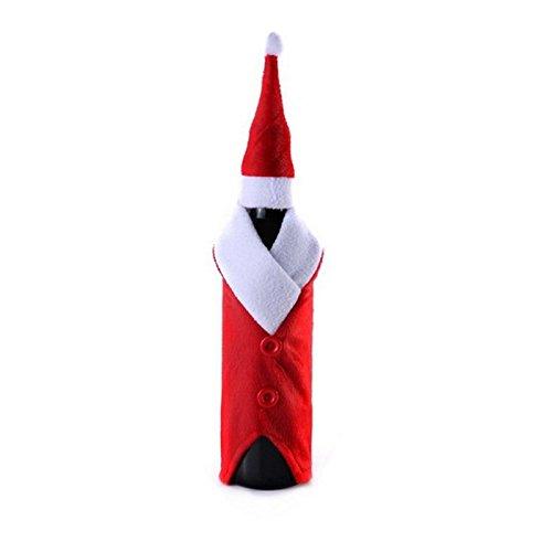 CanVivi Weinflasche Abdeckung Weihnachten Wein Flasche Anzug Flaschenhülle