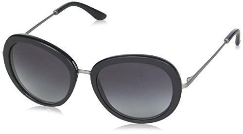 Giorgio Armani Unisex AR8040 Sonnenbrille, Schwarz (Matte Black 50428G), One size (Herstellergröße: 54)