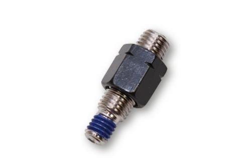Preisvergleich Produktbild Spiegeladapter M10 x 1.25mm Linksgewinde Schwarz auf M8 x 1.25 Gewindesackloch