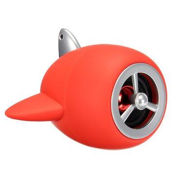 Generic U Disk Wireless Bluetooth Speaker Mini Bass TF Card FM Radio Hands-free- Red