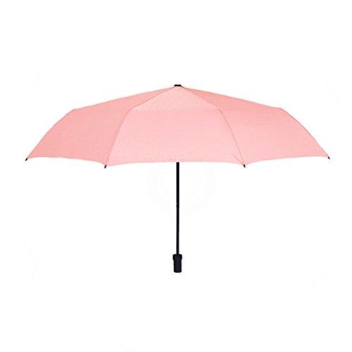 TaoMi Homw Pure Color ombrello pieghevole Donne Triplice Barometro della doppia - utilizzare Simple creative personalità studenti Ultra - Light Piccolo dolce ( colore : Rosa )