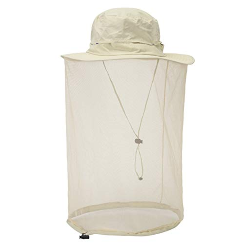 Outdoor Anti Mosquito Hut Anti bee Cap Head Net Hut Sun Bucket Hut Net Mesh Anti Hnsect Cap Hedging Cap Mountaineering Hat Fishing Hut Quick Drying Hut Sun Protection Gray Hut Blue...
