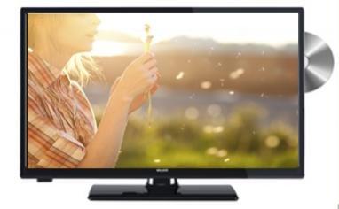"Walker WP20DVDV12 20"" HD TV/DVD Combi 12 Volt /240 Volt Caravan, Boat, Motor Home Freeview HD/Saorview TV"